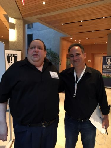 Joey with AES 2018 Conference Conference Chairman John Krivit