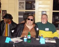 Joey with Hamp -King Bee- Swain and Steve Chanin at Macon Music Book Release