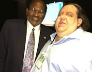 Joey with Al Bell from Stax Records