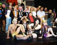 Joey with Rocky Horror Show full cast