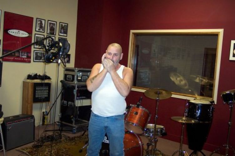 mark cole recording harmonica track