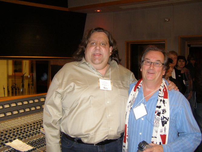 Joey with Julian Colbeck at ASSR Ocean way nashville Feb 2013