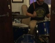 Charles tracking drums at Sun Studio