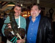 joey with 9-pound lobster