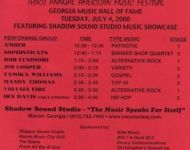 Shadow Sound Studio supporting 2000 GA Music Hall of Fame Music Festival