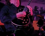 Joey with Les Paul Guitar at Mixture Album Release