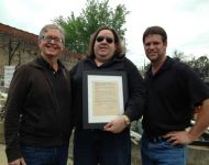 Joey PondTownFestival Proclamation with Dr. G and Howard