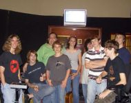 Joey with Midsummer Macon guitar class at studio