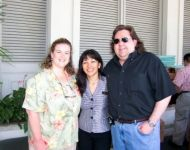 Joey and Jennifer with Allison at Kahala Mandarin in Hawaii