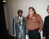 Joey with Clarence Carter