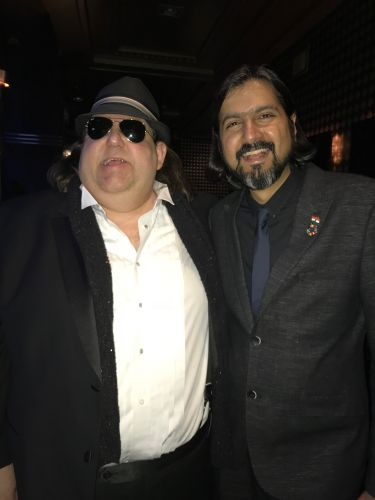 Joey at 2018 Round Glass Music Awards with Grammy winner and Round Glass Ambassador Ricky Kej