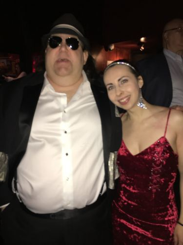 Joey with classical pianist Tania Stavreva at Grammy Soiree 2018 in NYC