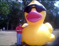 Joey with Giant Duck