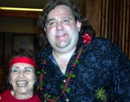 Joey with Jackie Ward at Great Hawaiian Jazz Blowout