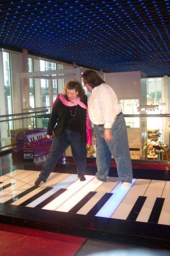 Joey and Jen on the BIG Piano in FAO Schwartz in NYC