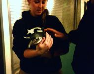 Joey with penquin at GA Aquarium 2