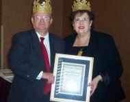 Talmadge and Reva Stuckey winning King and Queen of Atlanta Society of Entertainers 2005