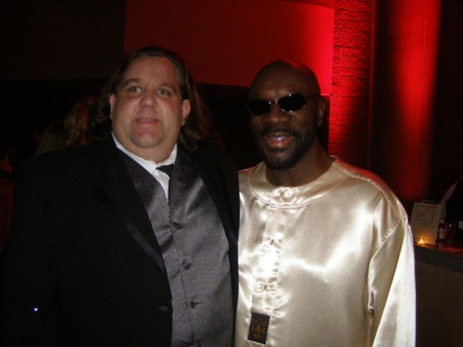 Joey with Isaac Hayes at GA Music Hall of Fame
