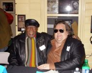 Joey with Hamp -King Bee- Swain at Macon Music Book Release