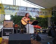Amber Pierce performing at Alive Day