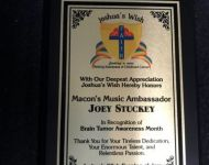 Award from Joshua's Hope for Pediatric Brain Tumor research