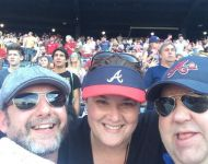 Joey, Jen and Charles at Braves Game in 2016