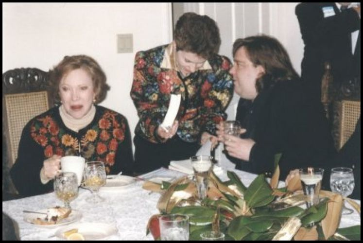 Joey at dinner with Rosalyn Carter