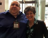 Joey with Berklee Online CEO Debbie Cavalier
