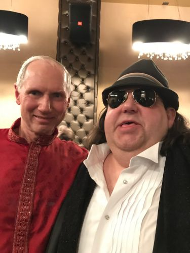 Joey with 2018 Round Glass Music Awards performer Premik Tubbs