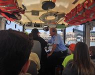 Joey Driving the Duck Boat in San Francisco