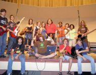 Joey with Midsummer Macon Guitar Class 2