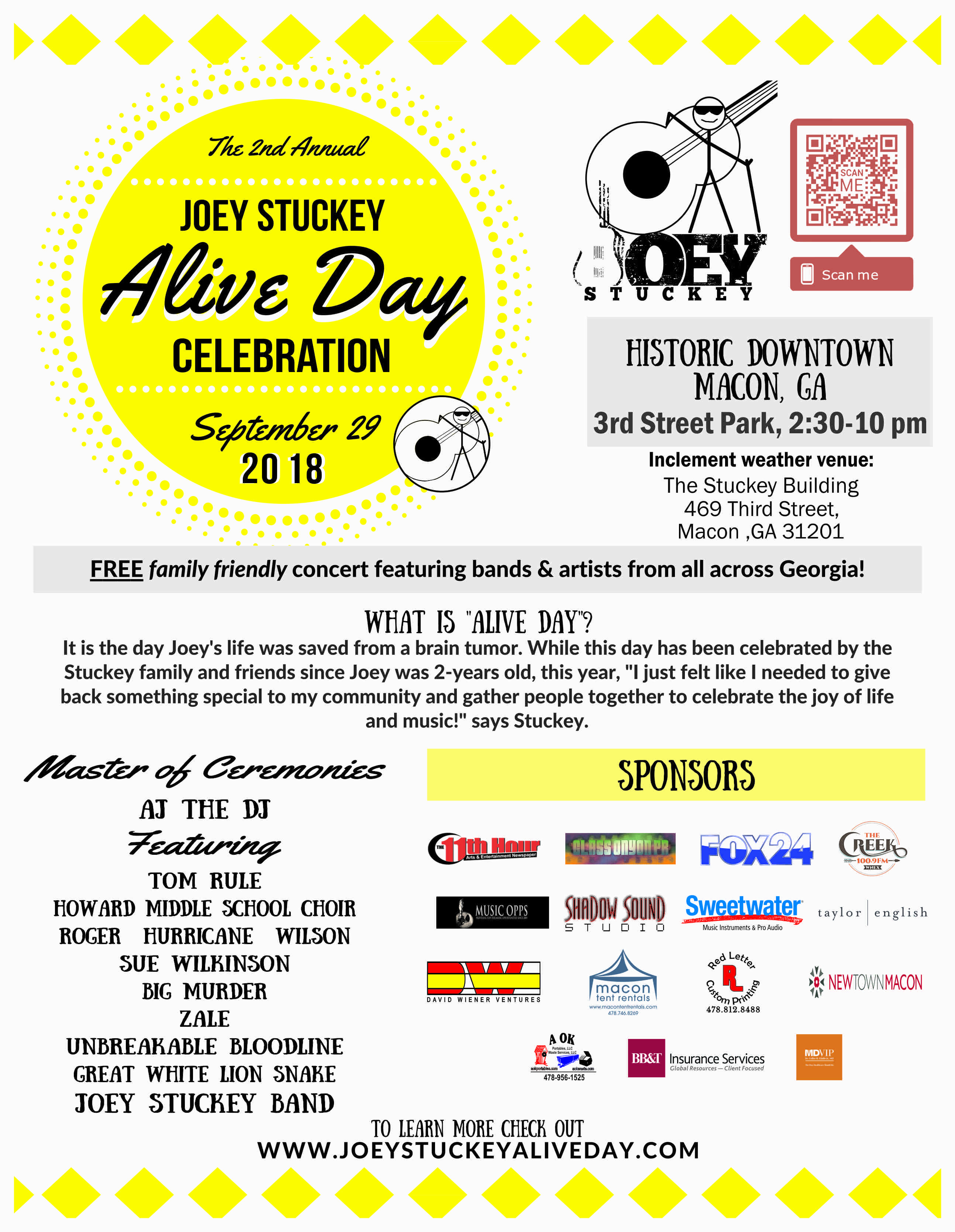 Joey Stuckey's Alive Day 2018 Poster