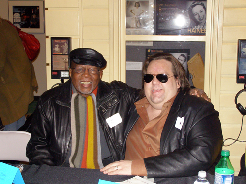 Joey with Hamp King Bee Swain at Macon Music Book Release