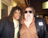 Joey with Dean Brown at Macon Music Book Release
