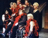 Joey as musical director of Rocky Horror Show in 2002