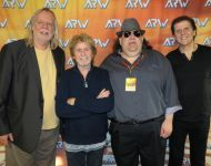 Joey with RICK Wakeman Jon Anderson and Trevor Rabin of ARW (Yes)