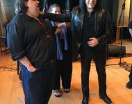 Joey with Gene Simmons