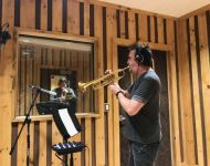 Al Chez tracking trumpet and Darrell Hendricks tracking trombone