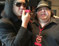 Joey with Gene Simmons playing the official Joey Stuckey Kazoo