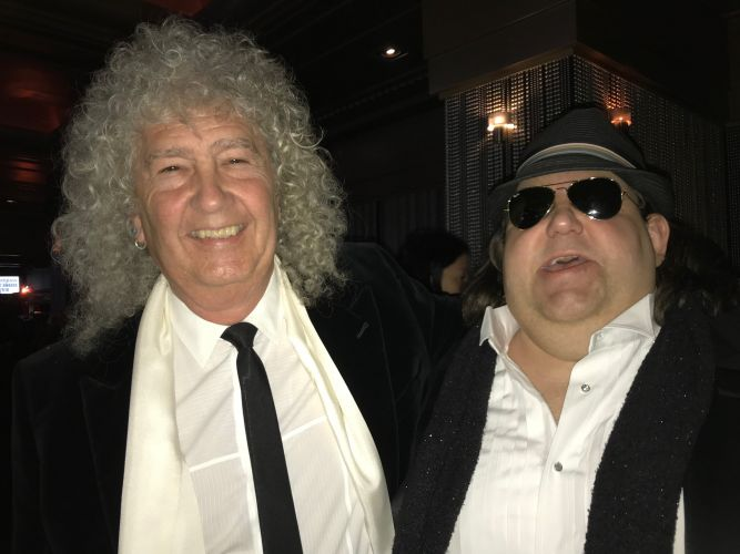 Joey at 2018 Round Glass Music Awards in NYC with T.M. Dubas—Jennifer thought this was Brian May from Queen