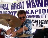 hawaii peterfactora playing with Joey at Great Hawaiian Jazz Blowout
